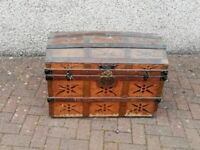 Antique Sea Chest with Brass Fittings