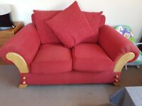 Red Sofa - Great looking and very comfortable