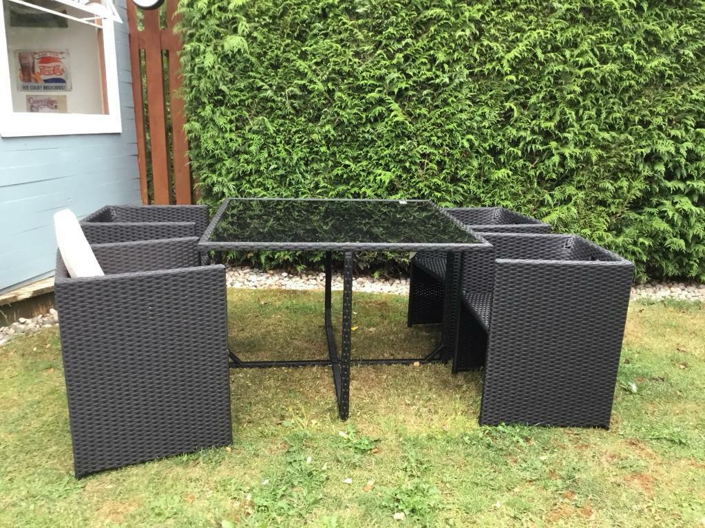 Rattan cube garden furniture