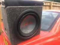 Subwoofer and amplifier alpine and vibe