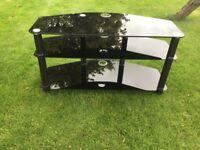 Tv stand - black glass