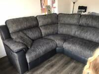 Corner sofa and large 2 seater Recliner