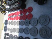 Golds Gym weight plates
