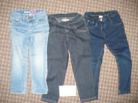 Bundle of 3 jeans/trousers for girl 3-4 years old. Gap, M&S, TU.