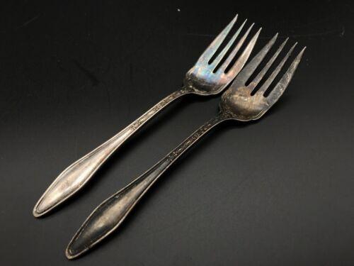 "Vintage Stratford Silver Co Special Fork 6"" Silverplate Meat Dinner Salad LOT"