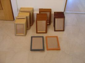 Job lot of 37 assorted picture frames ALL NEW Sold as a job lot.