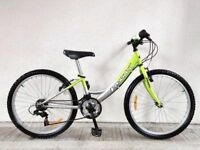 "(3140) 24"" PASSATT SMART GIRLS MOUNTAIN FULL RIGID HYBRID BIKE BICYCLE Age: 8-10, Height: 127-142 cm"