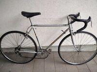 Vintage Peugeot road bike. Lightweight54cm Carbolite 103 frame, 5gears, 700c wheels, Fully restored