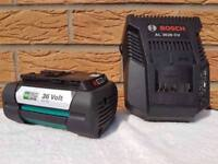 BOSCH GARDEN 36v Li-ion 4.0ah Battery & Charger