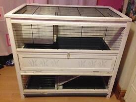 Double storey indoor rabbit hutch in great condition