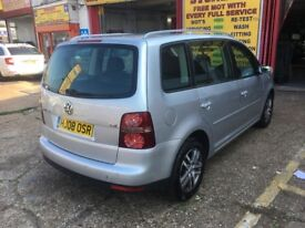 2008 TOURAN 1.4 SE TSI 7 SEATER SILVER 70 000 MILES 2 OWNERS FULL HISTORY
