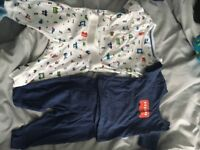 M&S 0-3 months matching top and trousers