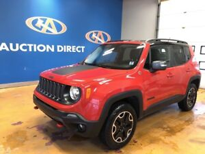 2016 Jeep Renegade Trailhawk NAVI/ LEATHER/ AWD, NEW TIRES!