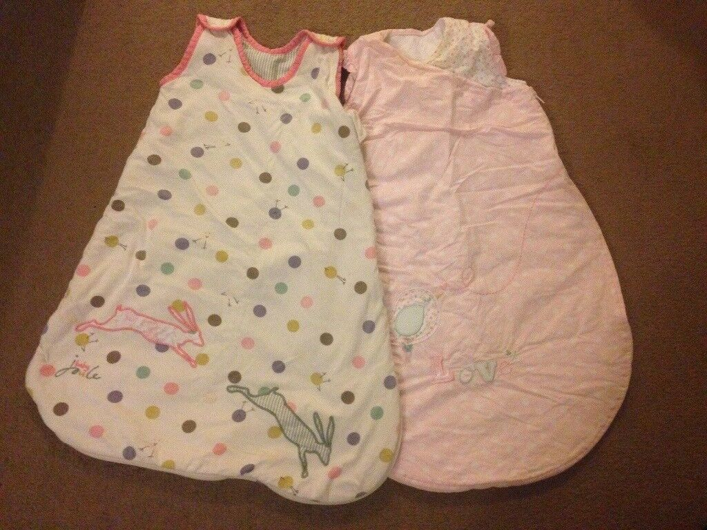 Baby girl sleeping bags x2