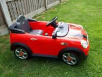 Kids mini cooper electric car