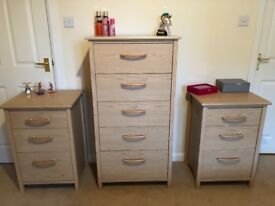 Alstons Bedroom Furniture Chest of Drawers and Matching Bedside Tables Cabinets Bedroom Set