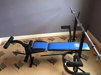 Marcy Fold Up Bench (MFB 400) + Weights Pole