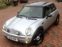 MINI COOPER Hatch PAN SUNROOF R50 & R53 1.6 Cooper 3dr 12months mot NEW GEARBOX/CLUTCH JUST FITTED