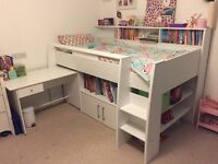 White Cabin Bed for Sale