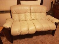 Leather 2 seater sofa - cottage style