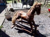 Beautiful large furry rocking horse