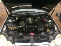 mercedes c class w203 c180 engine for supply and fit tested black top engine cal for info thanks