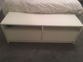 White tv unit / end of bed bench