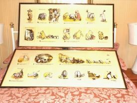 LARGE WINNIE THE POOH PICTURES X 2