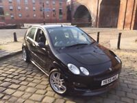 SMART FORFOUR BRABUS 1 ON 91 IN THE UK 180 BHP TURBO FULLY LOADED BLACK CZT