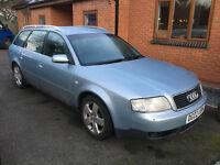 Audi A6 Estate, diesel 2.5 ltr, 177793 miles, Mot until Nov 17, leather seats, good tyres,