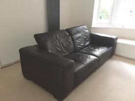 Reduced! Leather sofa and recliner armchair