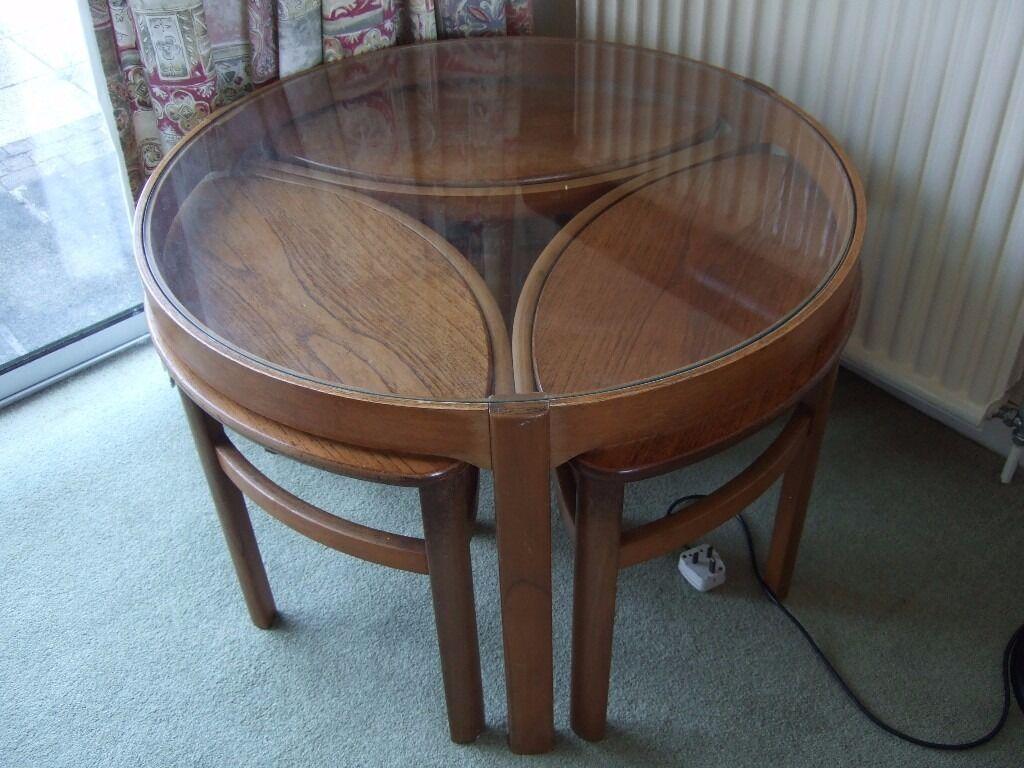 Retro Teak Round Coffee Table Nest Nathan