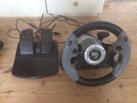 Datel Super Sports 3x Steering Wheel and Pedals - Windows XP / Vista / 7, Xbox 360, PlayStation 3
