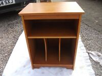 SOLID WOODEN TEAK CUPBOARD WITH SHELF AND COMPARTMENTS