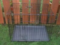 DOG CAGE MEDIUM WITH TRAY £20