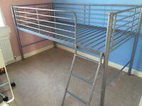 Bunk Bed Mid Sleeper Bed Frame Children's High Metal Bed