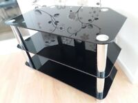 Black glass TV Stand for up to 42 inch TV