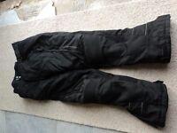 "Used Hein Gericke Cordura Mens Motorcycle Trousers 36""W 32""L Gore Tex"