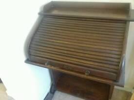 Antique mahogany 'roll top' writing desk