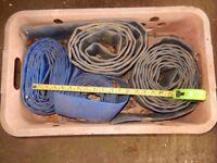 Flat waste water pumping tube