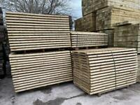 Pressure Treated Wooden Garden Fence Panels