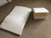 """10"""" white cake boxes x 50"""