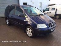 NOW REDUCED! 2003 Volkswagen Sharan 2.0 SL 7 seater, MOT OCT 17 Navy Blue/ Grey Int, alloys lovely!