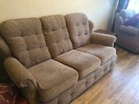 G Plan 3 seater sofa and chair
