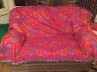 FREE SOFA vintage sofa, pretty but damaged!