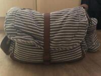 Grey and white Mothercare changing bag