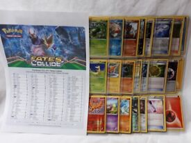 Near Complete POKEMON FATES COLLIDE cards set inc Holo & Parallel *Geekachu Studios*