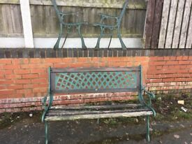 Cast Iron Garden Bench-Cast Iron Lattice Back Plate Can Deliver 3 Available- DELIVERY/COLLECTION