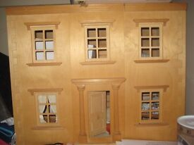 Wooden Dolls House with Collectable furniture