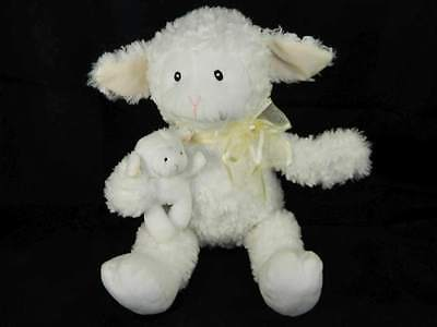Baby Gund Lamb Nursery Time Animated Talking Moves Toy White Lamb & Baby Works